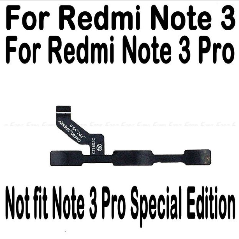 FLEX CABLE BUTTON REDMI NOTE 3